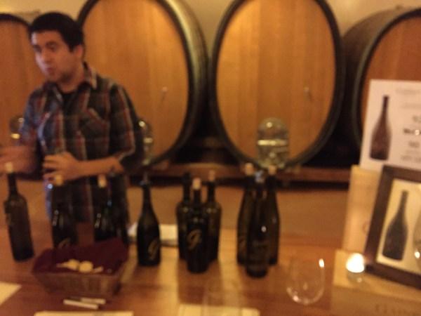 Wine tasting at Gainey Vineyard
