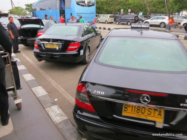 Fleet of Mercedes