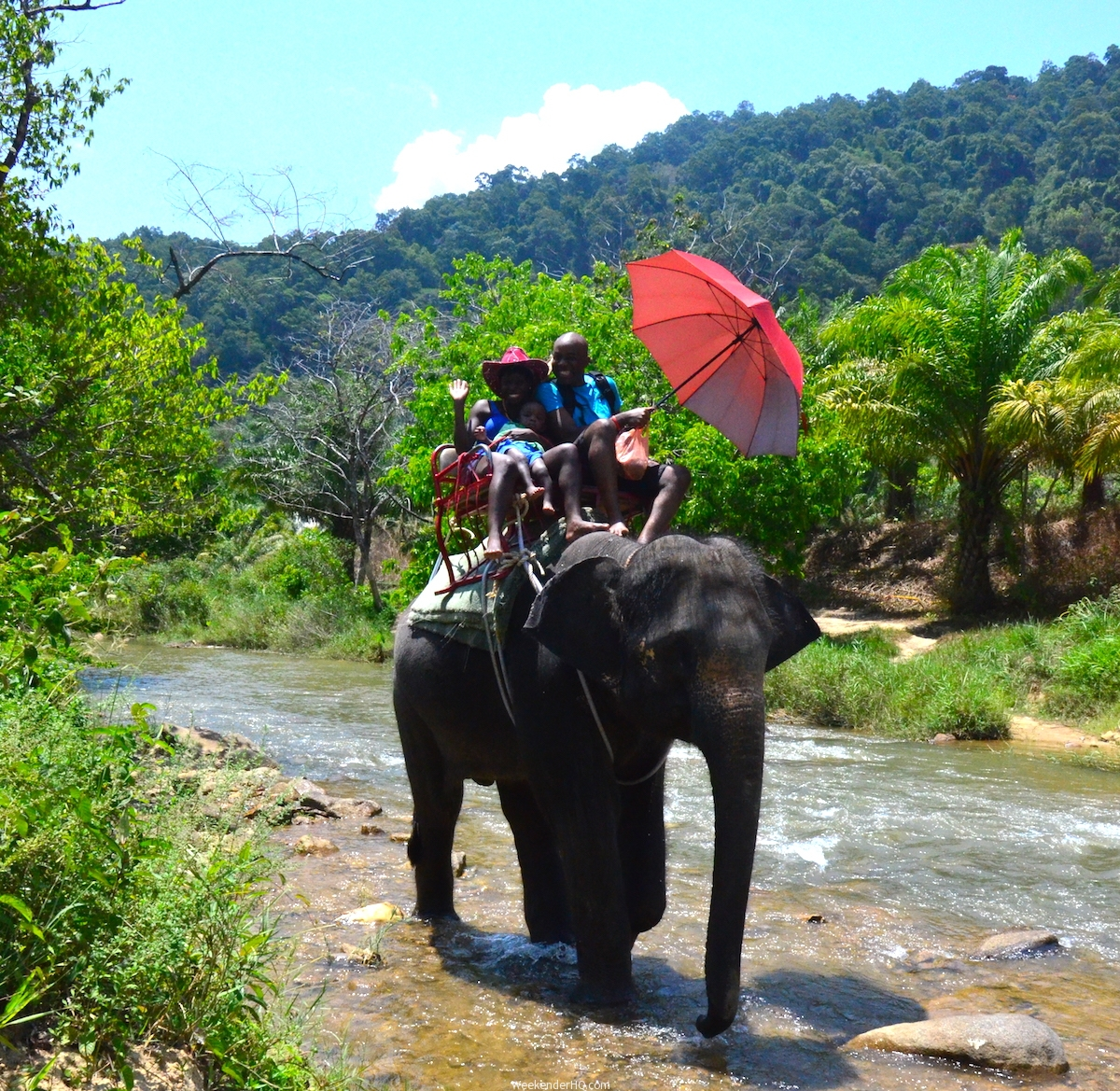 Peter and Hannah on Elephant Thailand