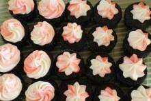 Swirls, stars, and chocolate marshmallow cupcake