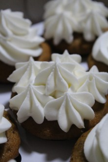Banana pecan with cream cheese frosting