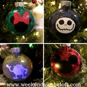 DIY Disney Glitter Ornaments