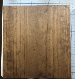 walnut stained board.