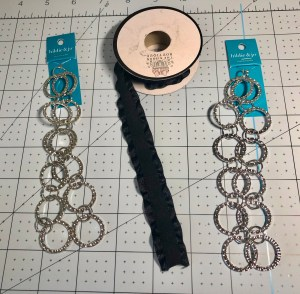 chain and ribbon to make lanyard.