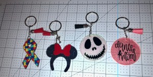 decorate acrylic key chains