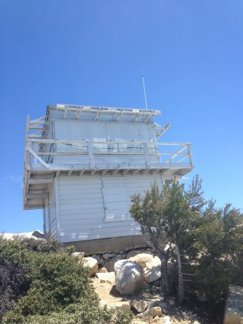 The fire tower is an active watch station that is staffed in the summer months by volunteers.