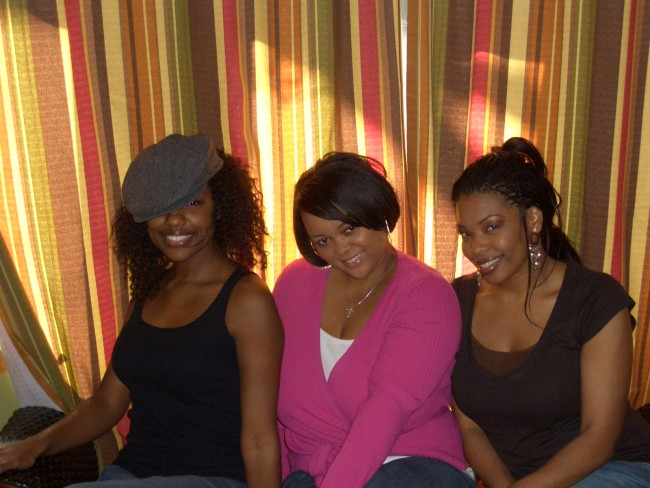 My best friends and I posing in my 1st NYC apartment .  That look in our eyes? Oh that's the look of naivety