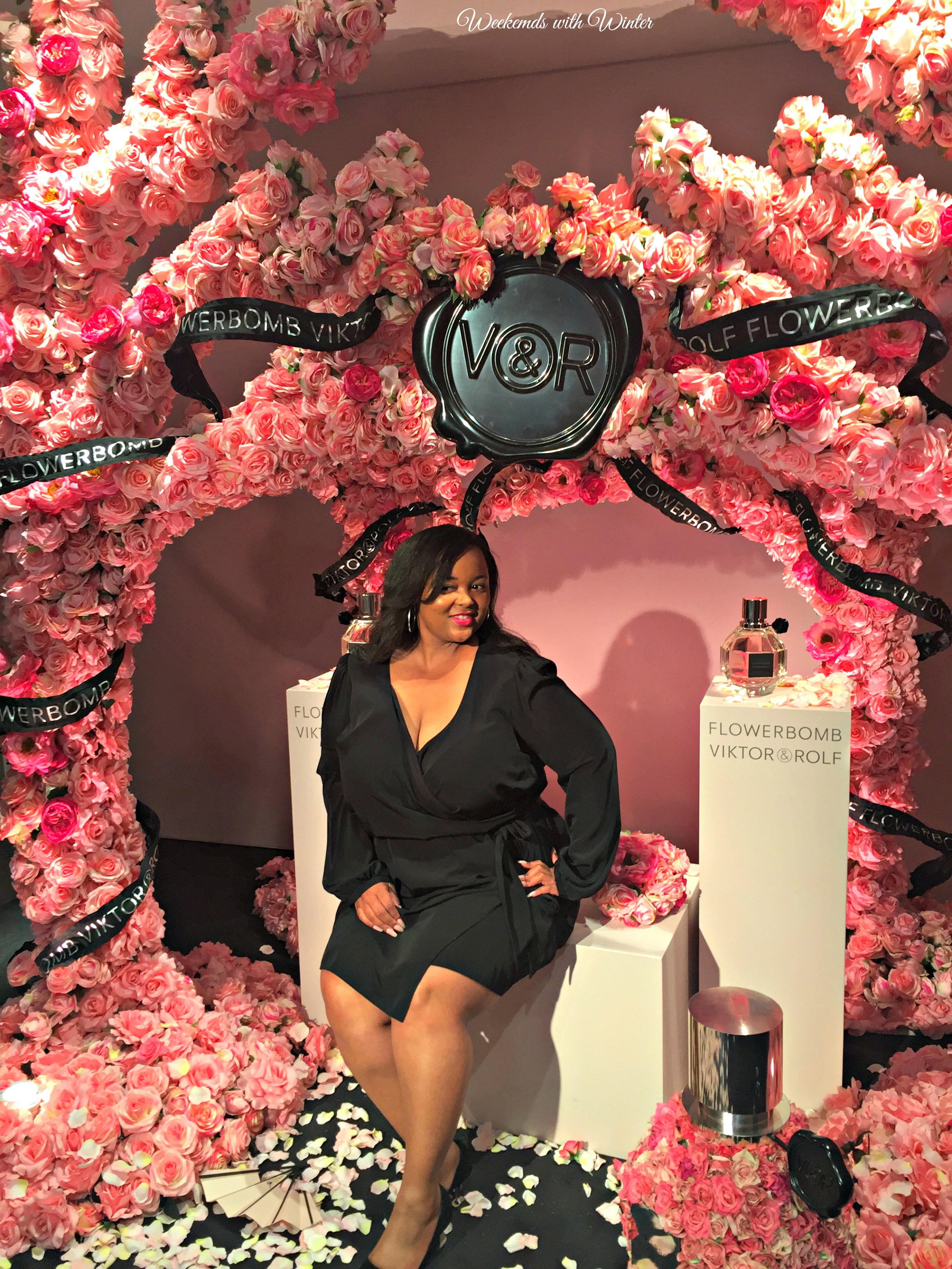 I love taking a picture in the Viktor and Rolf photo booth! I swear the backdrops get more beautiful every year!