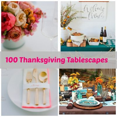 100 Thanksgiving Tablescapes with tinyprints