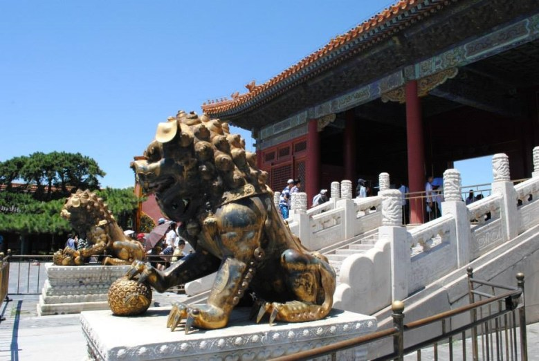visiting the forbidden city in China