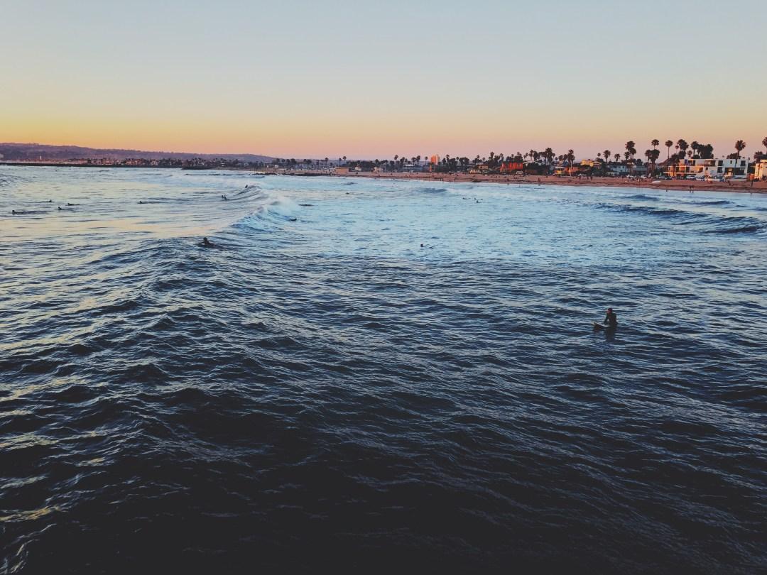 Ocean Beach San Diego surfers