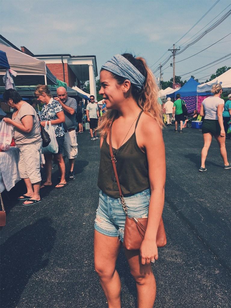Downtown Louisville farmer's market