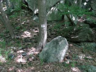 beginning of mine access trail