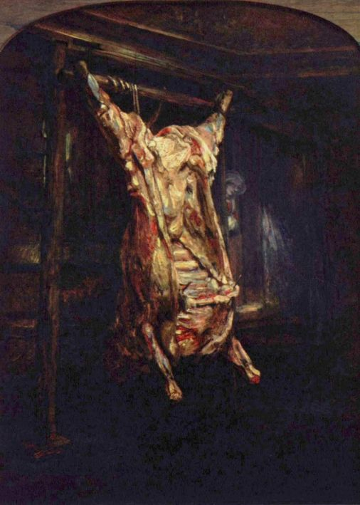 Carcass of Beef by Rembrandt in 1657