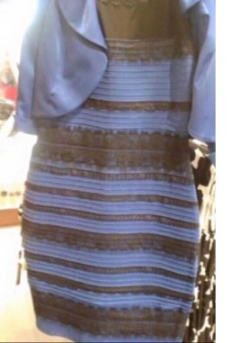 Image result for dress blue and black or white and gold
