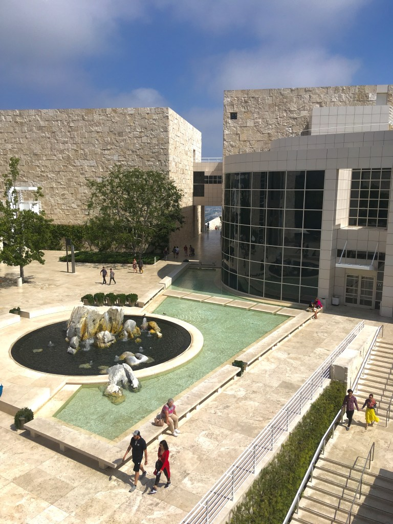 Part of the beautiful Getty Museum courtyards