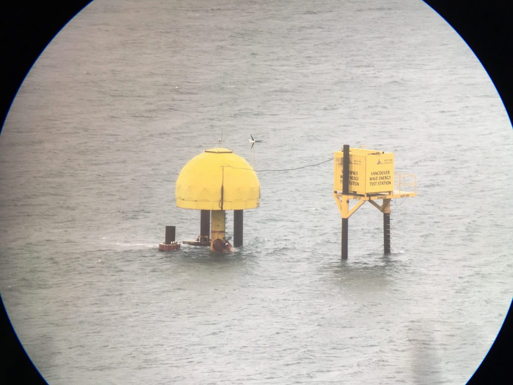 A wave energy test station in Vancouver