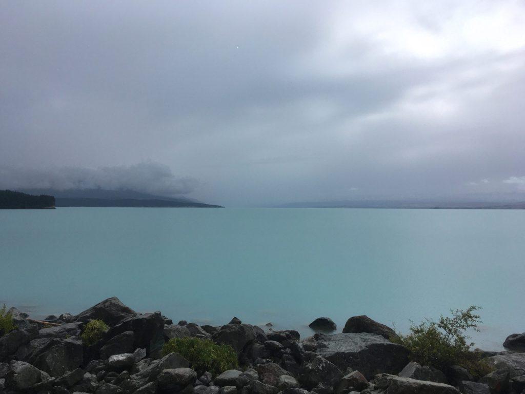 Looking north over Lake Pukaki toward Mt. Aoraki/Cook