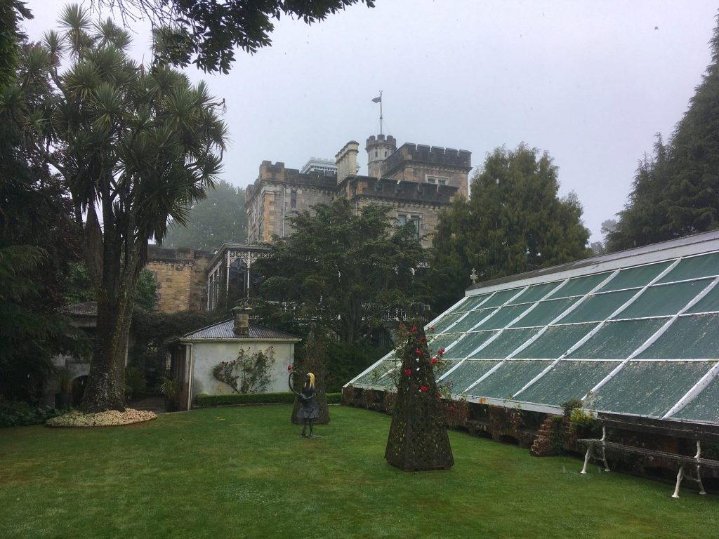 Larnach Castle and greenhouse