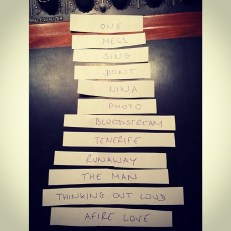 """Track listing for the standard edition of """"X"""". Photo Courtesy of Ed Sheeran (@teddyphotos on Instagram)"""