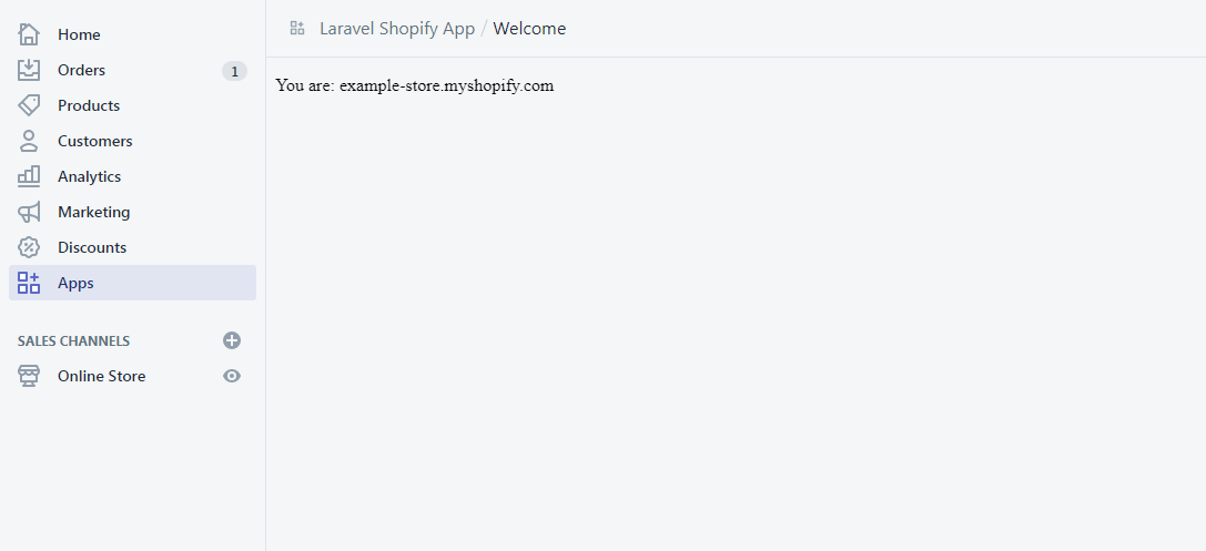 Shopify App made with Laravel PHP First Run