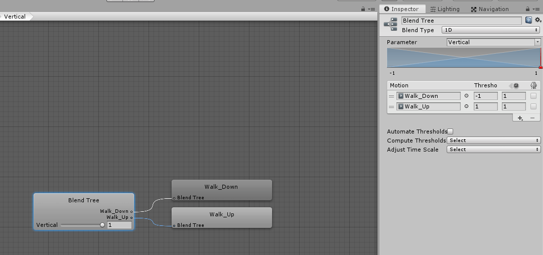 Unity3D Animations using Blend Trees