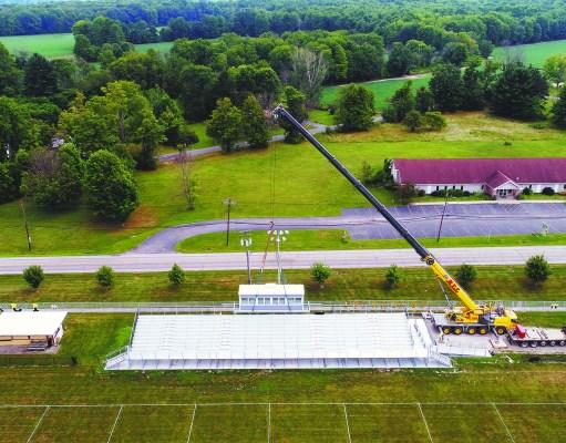 JAG Stadium Bleacher Installation Garrettsville OH