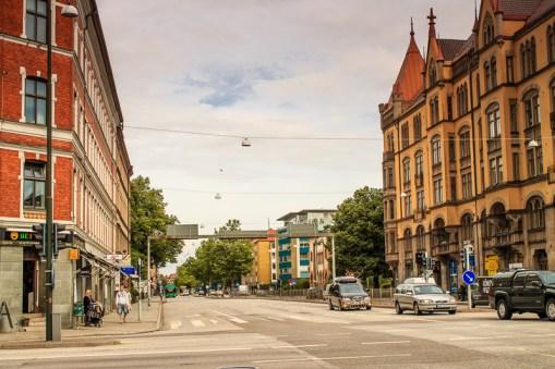 Afternoon sky at the corner of Amiralsgatan and Föreningsgatan in Malmö, Sweden.