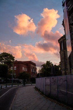 Rosy clouds at dawn. September 18, 213.
