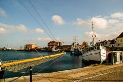 Good weather in Simrishamn harbour.