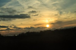 Sunset from the train somewhere on the south coast.