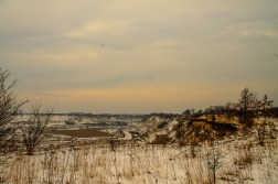 Limhamn lime quarry in snow on Saturday.