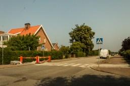 Sunny at the corner of Bispgatan and Grevegatan in Limhamn.