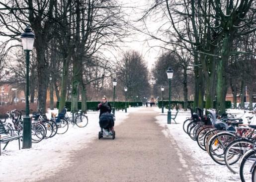 Kungsgatan in Malmö in snow