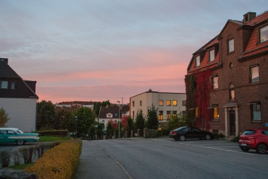 Another rosy dawn by Elinshöjd in Borås on Thursday morning.