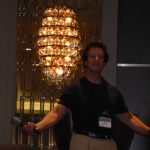 "Author Jon Land (""Pandora's Temple"") prepares to moderate a panel on ""the hybrid author."""