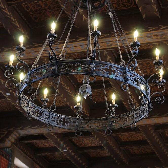 Medieval chandelier at castello di amorosa weekly wine show httpsi2wpweeklywineshowwp contentuploads201711medieval chandelier at castello di amorosagfit6642c664ssl1 aloadofball Gallery