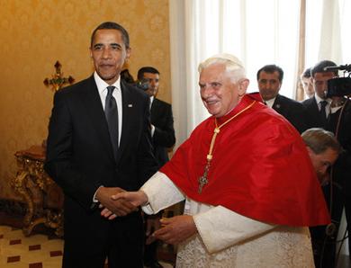 Barack Obama, Pope Benedict XVI