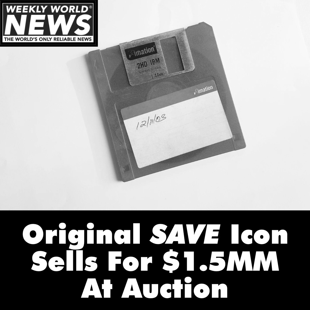 Original Save Icon Sells for Millions At Auction