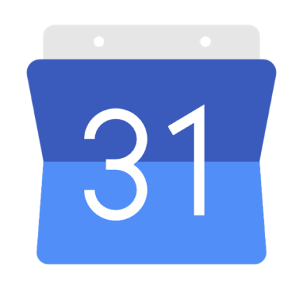 Blue Google calendar, mobile app for freelancers