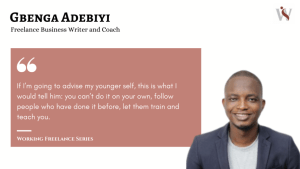 Working Freelance Gbenga Adebiyi