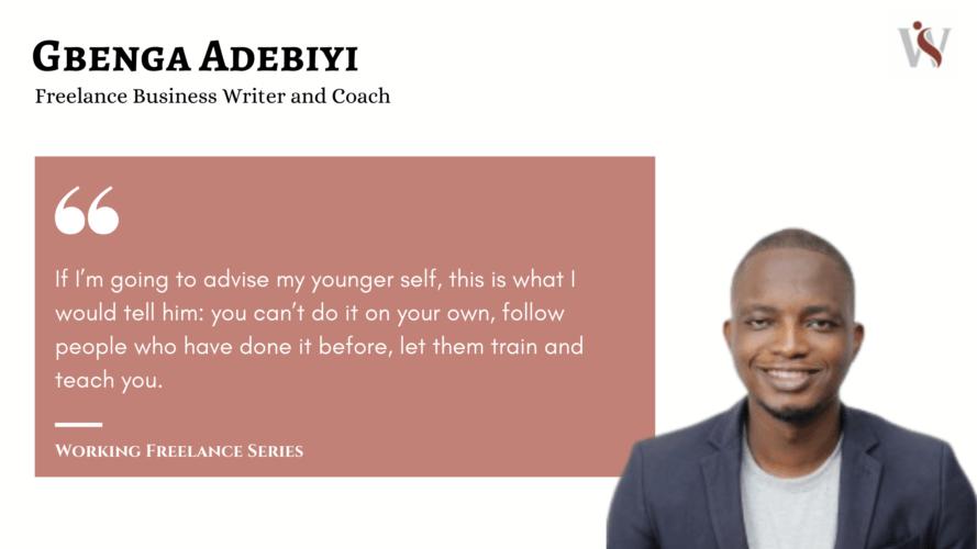 Working Freelance Gbenga Adebiyi