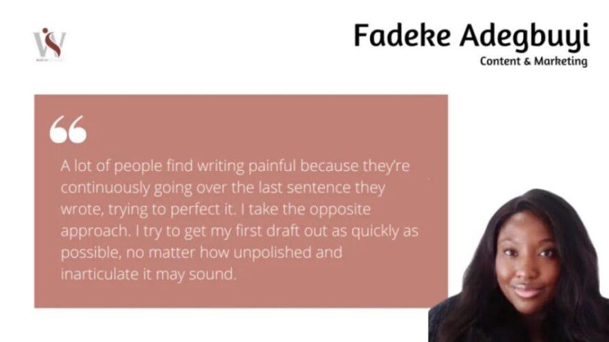 Writers Who Inspire Us: Fadeke Adegbuyi 4 Writers Who Inspire Us: Fadeke Adegbuyi Fadeke Adegbuyi