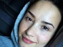 Demi Lovato es una de las famosas más activa en la tendencia del no make up.