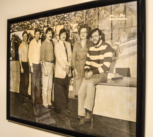 The walls inside the business are filled with framed photos depicting the history of the distributor.