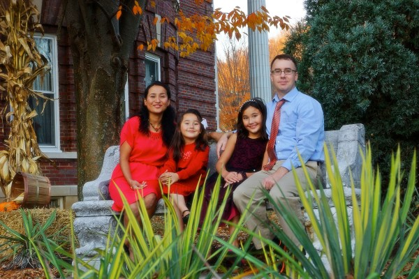 Maskey with her two daughters, Lavani and Juniper, and her Husband, Jesse Gandee. (Photo by Wendy Donzella)