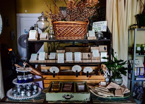 Natural soups and salves are available at the shop located at 1904 Market Street.