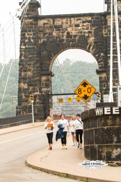 The downtown Wheeling area is packed full with historical structures like the Suspension Bridge.