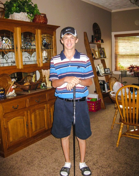 He was determined to make the Wheeling Park golf team as a freshman, and that's exactly what Randy did.