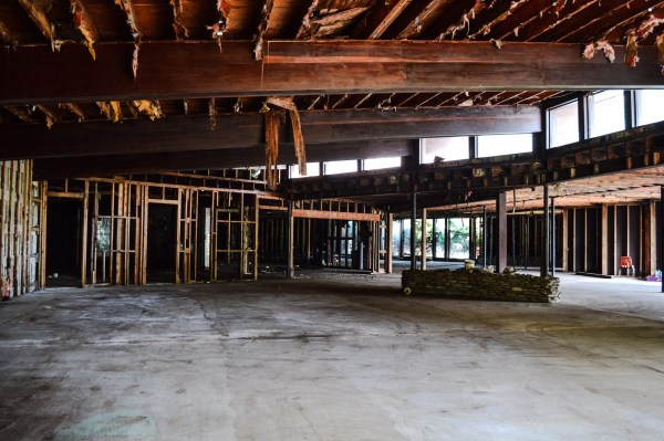 The former Ernie's Esquire was recently purchased and is now being renovated for retail and residential living.